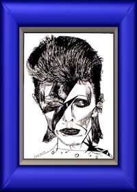 David Bowie Framed - a drawing by Paul Rance