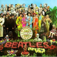 Beatles Sgt. Pepper's Lonely Hearts Club Band Album Cover